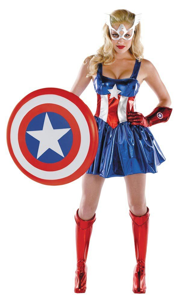 Womens Sassy Adult American Dream Costume Captain America Costumes - Mr. Costumes