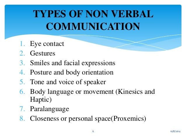 verbal and nonverbal communication examples