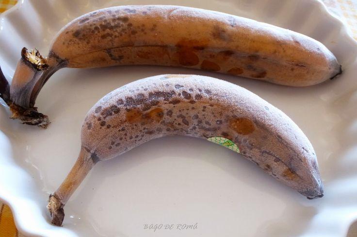 """Bago de Romã: """"Dicas & Sugestões"""" - Congelar Bananas Maduras ...com casca."""