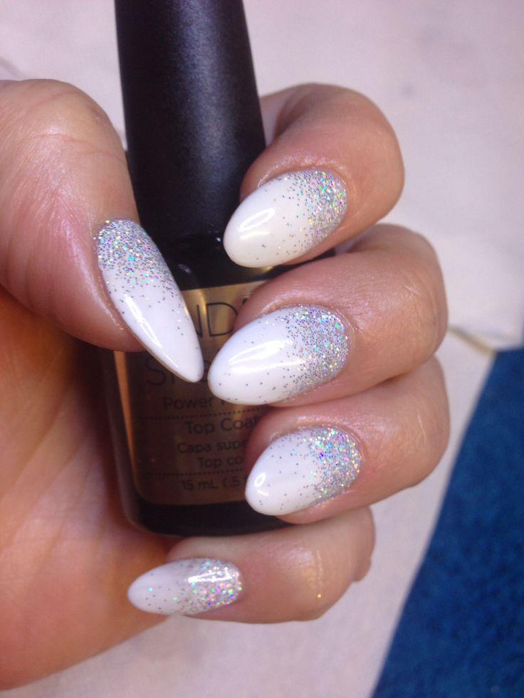 CND Shellac in Cream Puff & Glitter