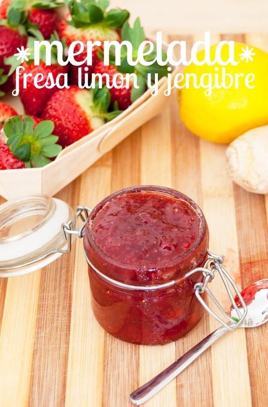 Mermelada de fresa, jengibre y limón