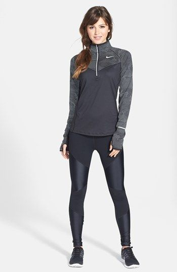 Nike Half Zip Top & Tights  available at #Nordstrom