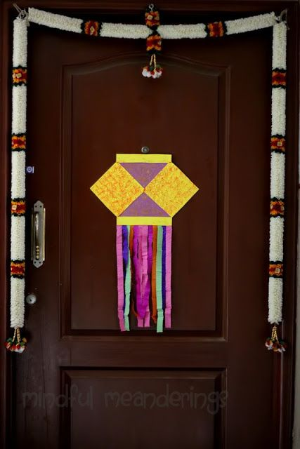 The kandil at the door - craft for children