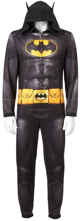 Men's DC Comics Batman Dark Knight Microfleece Union Suit