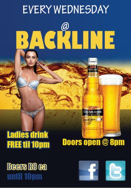 Mid week Party @ Backline | South Coast Live Ladies drink FREE til 10pm, Beers R8 til 10pm