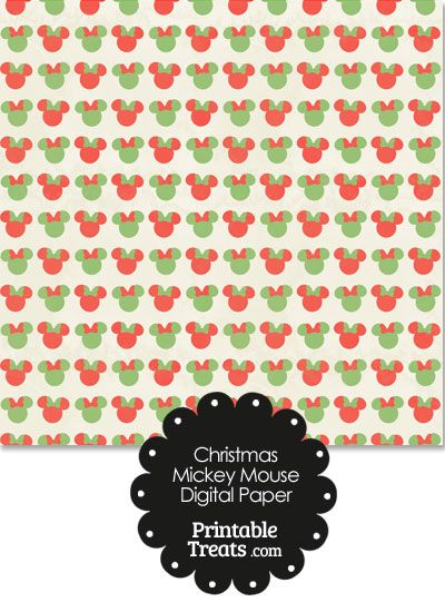 Vintage Minnie Mouse Christmas Digital Scrapbook Paper ...