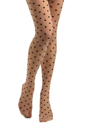 Jukebox Tights in the Twist - ModCloth: Polka Dot Tights, Polka Dots, Fashion, Twists, Dress, Modcloth, Jukebox Tights