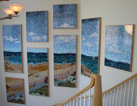 Mosaic Art Projects | Beach Scene (c) 2003 by Mosaic Mountain Arts
