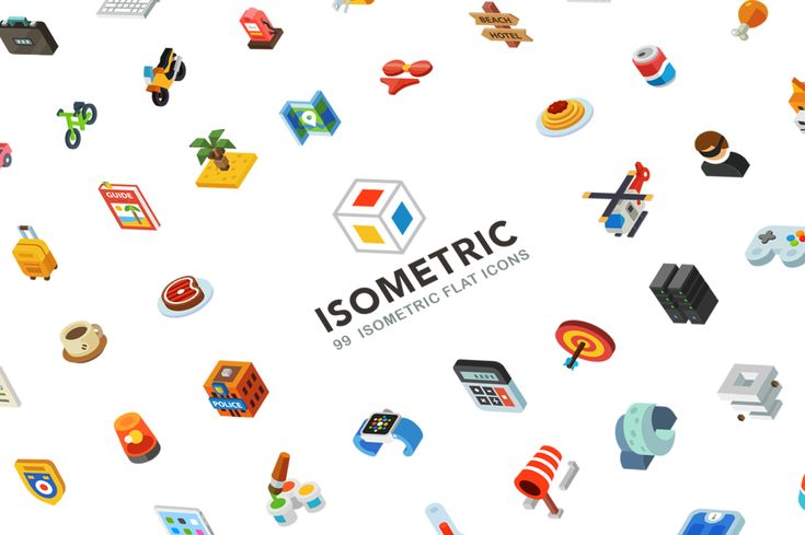 Isometric, 99 icon pack on Behance
