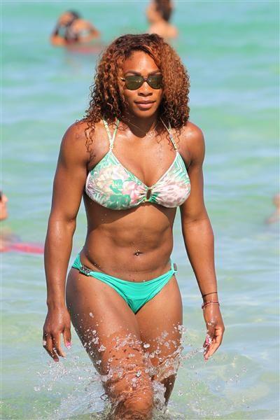 Serena Williams green floral bikini - Serena Williams' best bikini moments