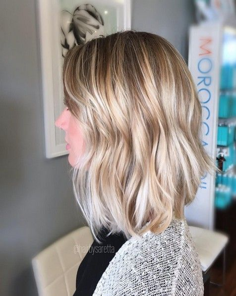 Balayage Hairstyles - Medium Wavy Haircut for Thin Hair