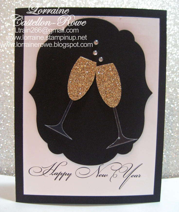 Champagne New Year Card - Lorraine's Stampin' Spot - www.lorrainerowe.blogspot.com
