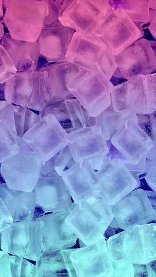 Colorful ice cubes wallpaper