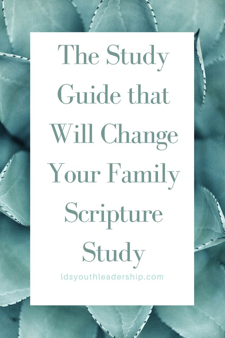 The Study Guide that Will Change Your Family Scripture Study – LDS Youth Leadership
