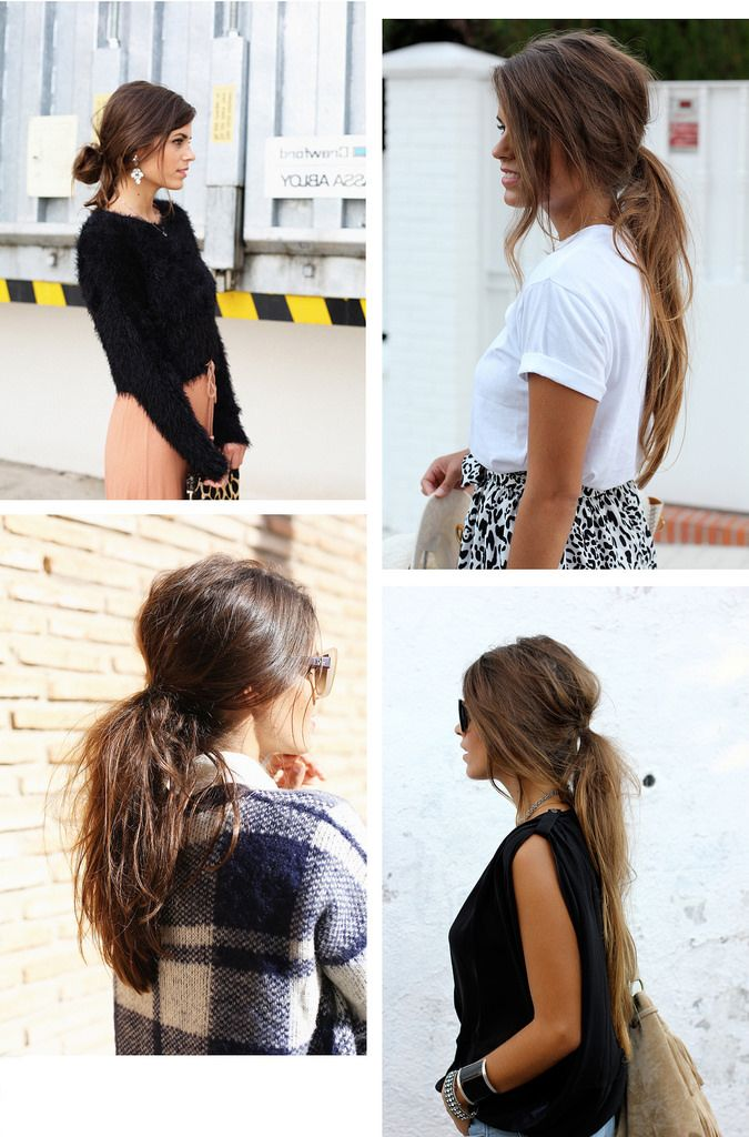 hair tutorial : messy ponytail - Seams for a desire