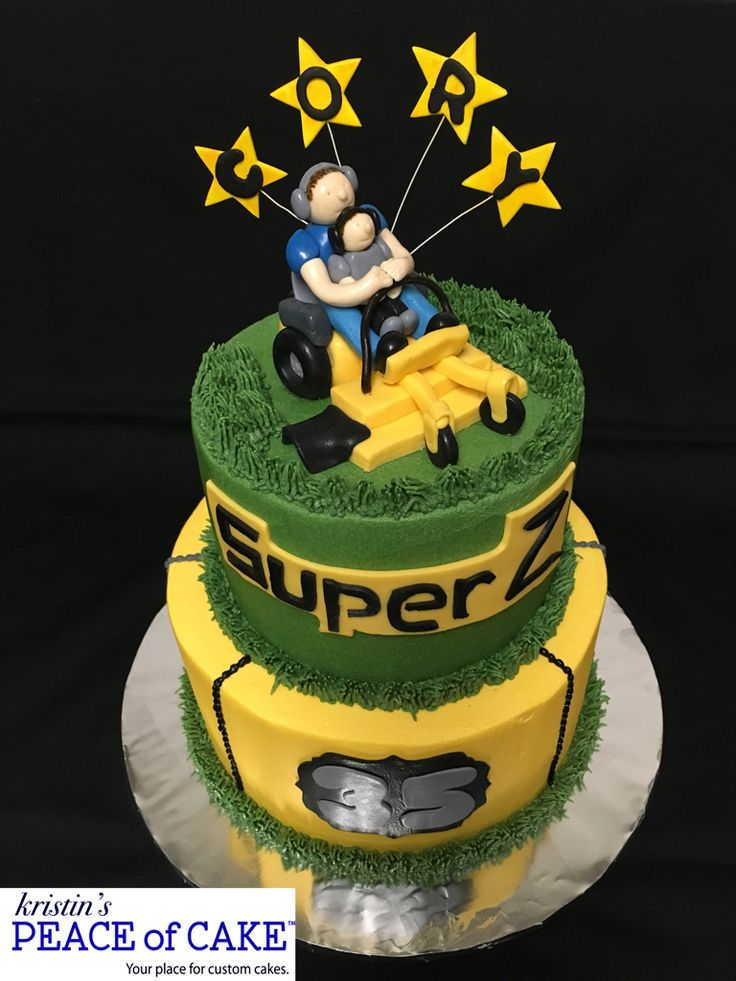 Riding lawn mower cake