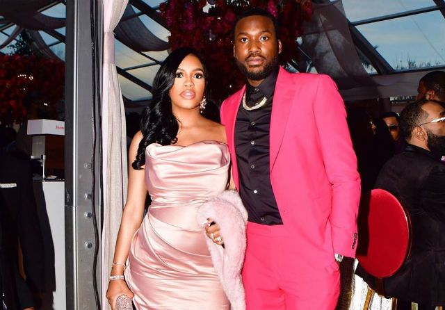 Meek Mill And Milan Of Milano Di Rouge Bump Around Roc Nation S Annual Brunch In 2020 Meek Mill Baby Boy Rapper