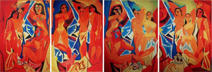 "series: ""(#slowmade) picasso: demoiselles ..."" #finearts, #pixelism"