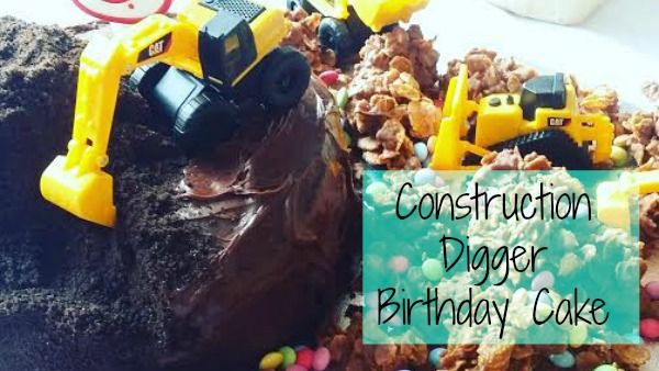 The 3 year old requested a birthday digger cake, a digger cake is what he got. Here is my step by step instructions on how to create your own digger cake,