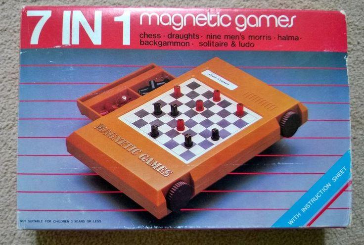 Vintage 7 in 1 Magnetic Games