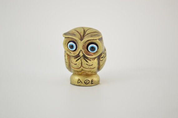 Owl statue / 2 inches / Polyester / Bronze by CraftsAndMetal
