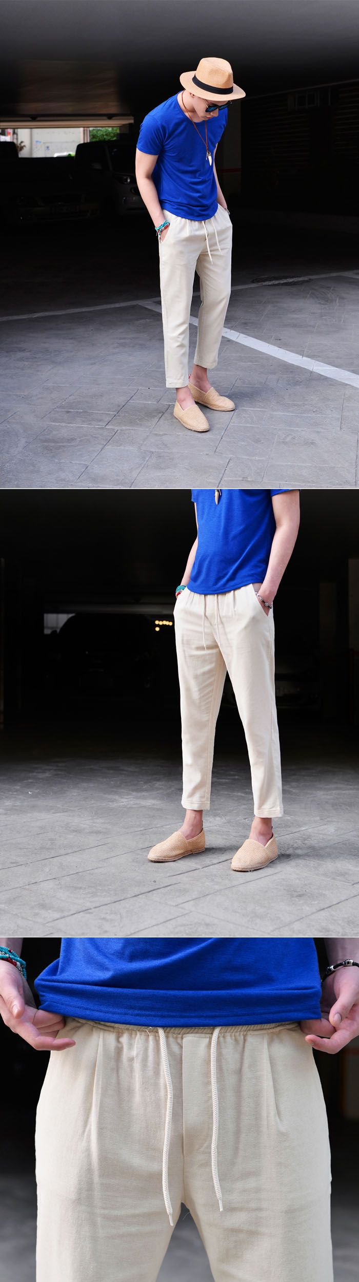 Linen Banding Cropped Turn-up-Pants 238 by Guylook.com  #menswear #guylook #guylooks #menspants #pants #linen #summer #ootd #style #mensfashion #fashion #cool #outfit #남자 #패션 #스타일 #스타일리쉬 #남성쇼핑몰 #남성스타일 #남자스타일 #여름