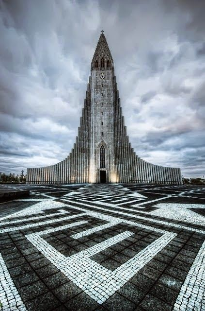 The Church of Hallgrimur. Reykjavik, Iceland