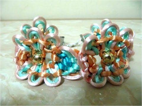 DIY pulseras de la amistad de flores - DIY friendship bracelets flowers - YouTube