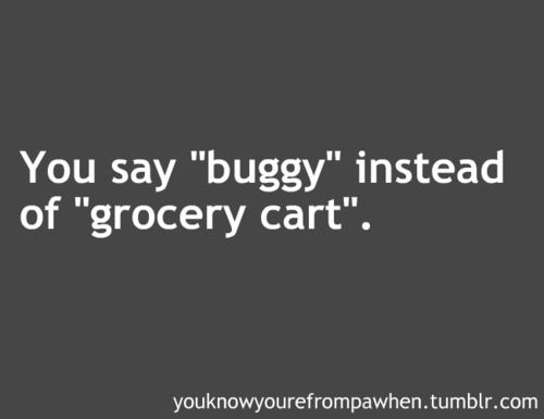 my kids make fun of me all the time for saying buggy