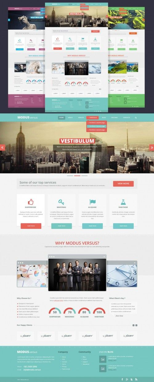 102 best web design images on pinterest architecture portfolio clean flat full website free psd template pronofoot35fo Gallery