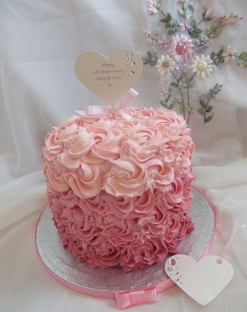buttercream pink wedding cake anniversary