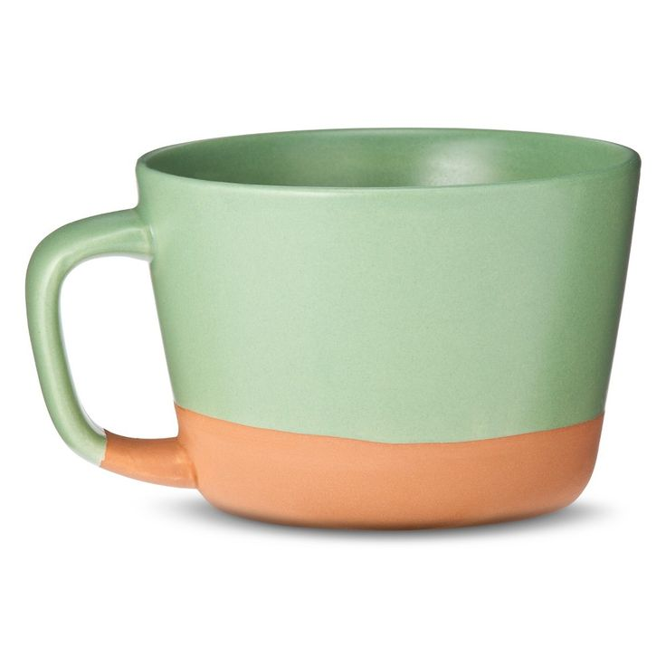 Stoneware Coffee Mugs Set of 4 - Green - Threshold