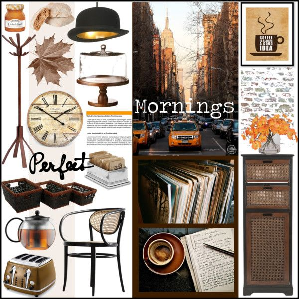 Autumn Mornings by szaboesz on Polyvore featuring interior, interiors, interior design, home, home decor, interior decorating, DeLonghi, Match, Bodum and Ethan Allen