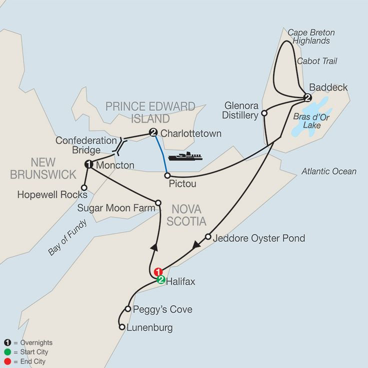 Nova Scotia, Prince Edward Island & Cape Breton Tour                                                                                                                                                                                 More