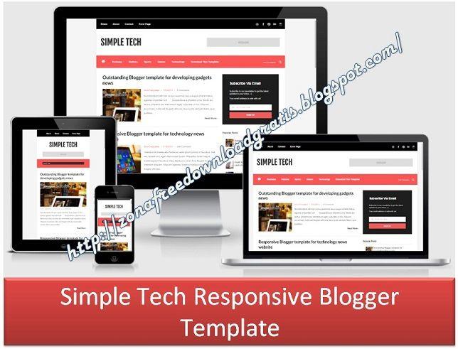 Simple Tech Responsive Blogger Template