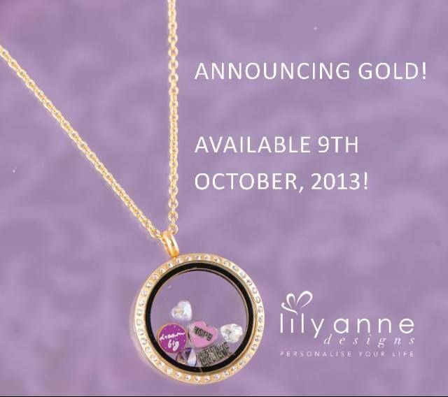 Hot off the press! GOLD Lockets 9th of October!! http://www.lilyannedesigns.com.au/shop.html