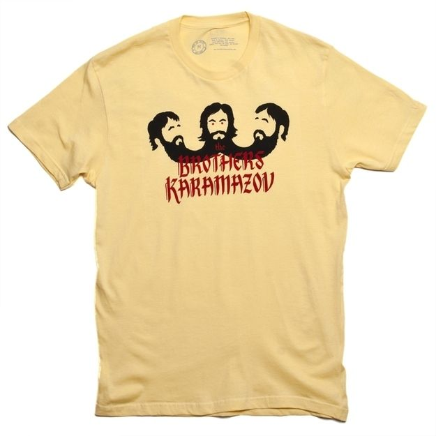 The Brothers Karamazov T-Shirt | 16 Fantastic Gifts For Lit Lovers Who Have Enough Books | ... I don't imagine Alyosha with a beard. Still. Dostoyevsky!