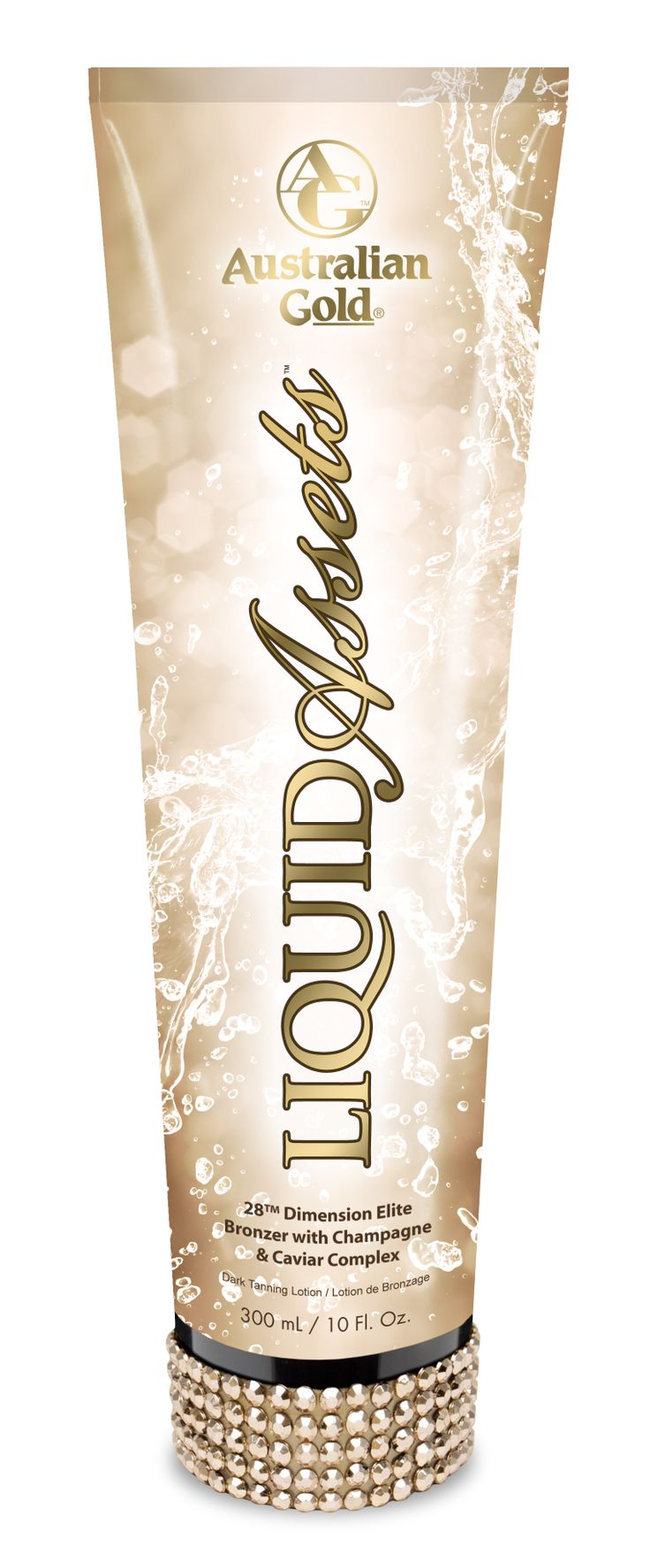 Australian Gold Liquid Assets ™ - INTENSIFICATORE CON DHA  - Abbronzarsi ed idratarsi grazie al Complesso Caviale e Champagne e Profumare di Mimosa!