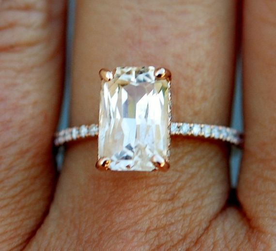 Champagne Engagement Ring 14k Rose Gold Diamond by EidelPrecious  Would prefer white gold setting -kenz
