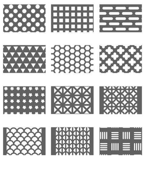 Perforated metal patterns: