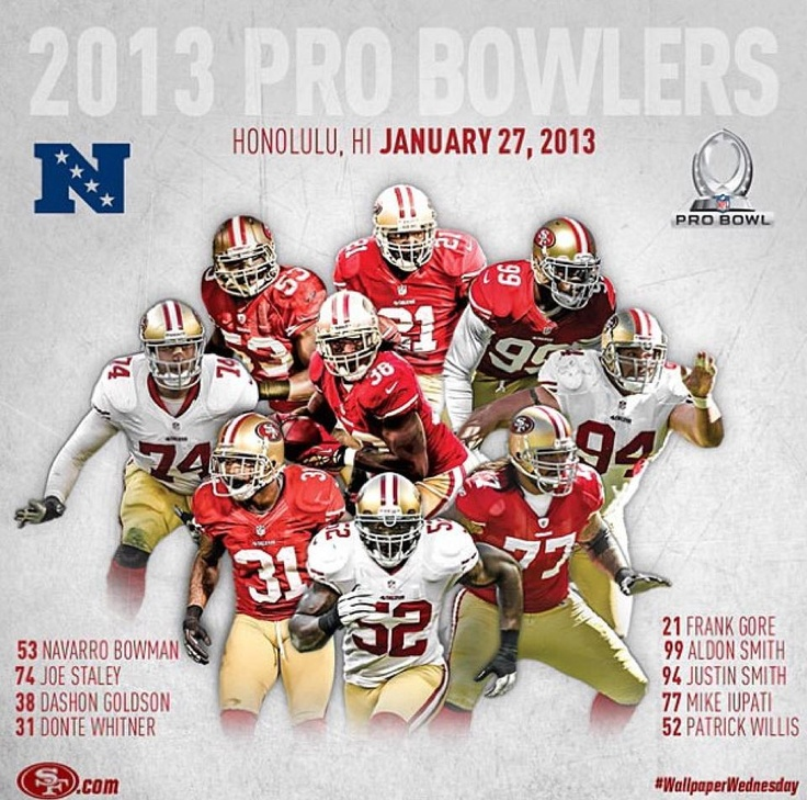 #49ers 2013 Pro Bowl Selections