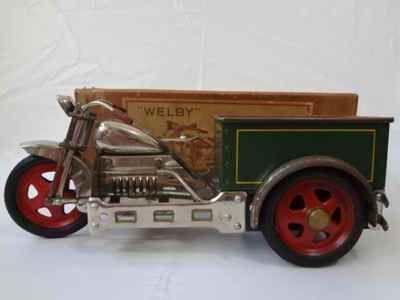 Japanese Retro Antique Welby Sidecar Motorcycle Bike Wagon Sidecar Litho Tin Toy | eBay