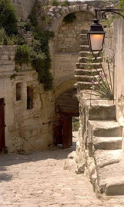 Les Baux de Provence, porte d'Eyguieres, historical entrance of the medieval village