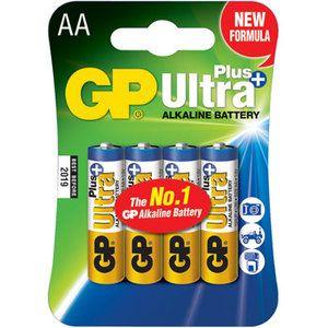4 stuks GP Ultra Plus Alkaline AA Mignon penlites in blisterverpakking voor slechts € 4,99.