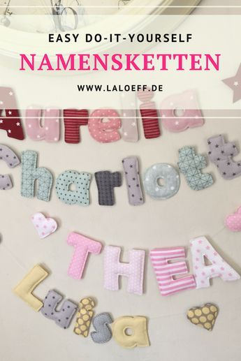 tutorial Buchstaben für Namensketten - laLoeff