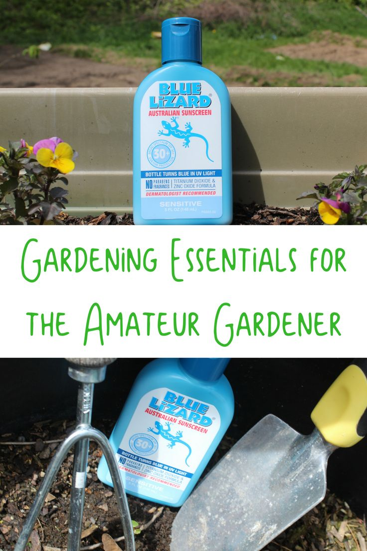 From one amateur to another, here are my gardening essentials for the amateur gardener. #BlueLizardSummer #ad @walmart @bluelizardsun