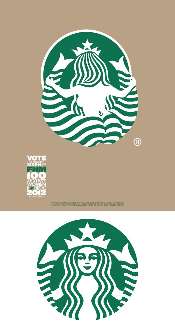 The back of the Starbucks logo! Clever