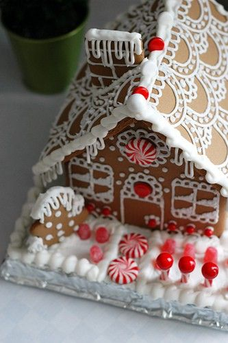 Gingerbread House Inspiration - Lots of great ideas on this blog - stop me from going stale.  Will pin some more . . .