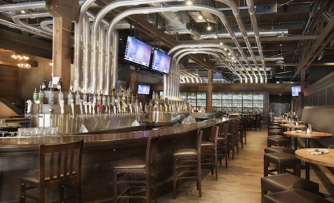 Check out our list of the best places to get craft beer in Calgary, Craft beer Market boasts a lengthy #beer list and a vast interior. (Photo courtesy Craft Beer Market) #Calgary #Alberta #Canada #CanadianBeer