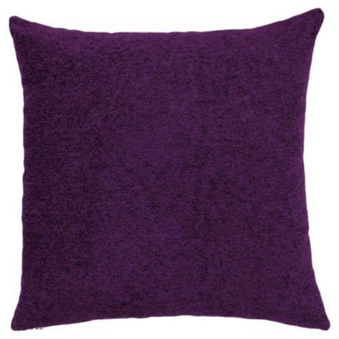 Plain Chenille Cushion Plum
